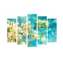 5-dielny obraz na plátne Bloom