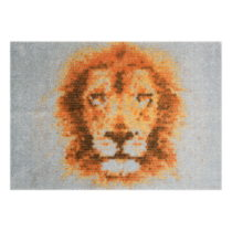 Sivá rohožka Mint Rugs StateMat King Of Animals 50 × 75 cm