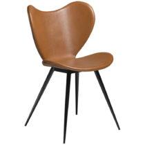 Hnedá koženková stolička DAN-FORM Denmark Dreamer