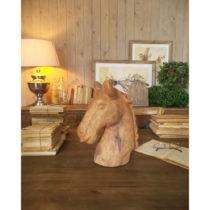 Dekorácia z mangového dreva Orchidea Milano Horse, výška 31 cm