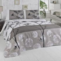 Ľahká hnedá prikrývka cez posteľ na dvojlô&a...