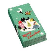Sada 12 vianočných vreckoviek Rex London Christmas Wonderland