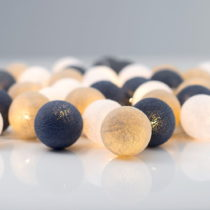 Svietiaca reťaz Irislights Nordic Blue, 20 svetielok