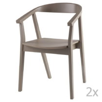 Sada 2 svetlosivých jedálenských stoličiek sømcasa Don...
