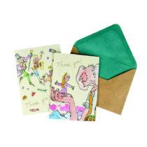 Sada 10 kartičiek s obálkou Roald Dahl by Portico Designs