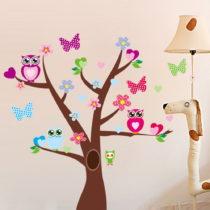 Samolepka Tree and Butterflies on Tree