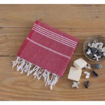 Červená bavlnená osuška Hammam Sultan, 100×...