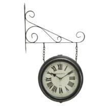 Čierne nástenné kovové hodiny Mauro Ferretti