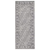 Sivo-krémový obojstranný koberec vhodný aj do exteriéru...