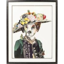 Obraz Kare Design Art Lady Dog, 72×90 cm