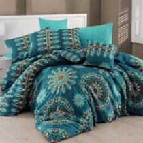 Tyrkysové obliečky s plachtou na dvojlôžko Hula Turquoise, 200...