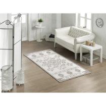 Bavlnený koberec Cream Ornament Gris, 100×200 cm