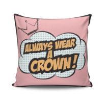 Vankúš s výplňou Crown, 45×45&...