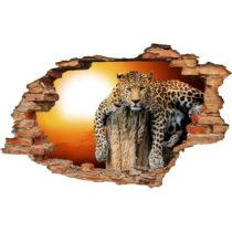 Samolepka Ambiance Landscape Leopard, 60×90 cm