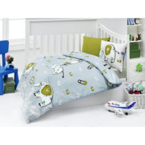 Set bavlnenej detskej obliečky s plachtou New Friends, 100 × 150 cm