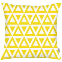 Žltá obliečka na vankúš Apolena Triangle, 43&#xA...
