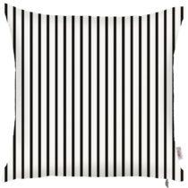 Čierno-biela obliečka na vankúš Apolena Pinky Light Stripes, ...