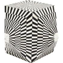 Čierno-biely odkladací stolík Kare Design Piano