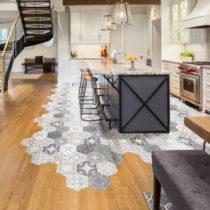 Sada 10 samolepiek na podlahu Ambiance Floor Stickers Hexagons Emilana, 40×&#...