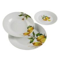 18-dielny set tanierov z porcelánu Versa Lemon