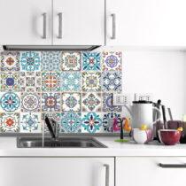 Sada 24 nástenných samolepiek Ambiance Wall Decals Patchwork Tiles, 20&a...