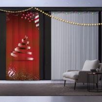 Vianočný záves Christmas Ribon Tree, 140 x 260 cm