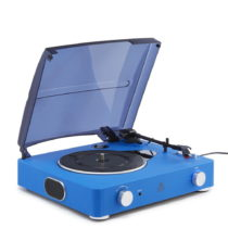 Modrý gramofón GPO Stylo II Cobalt Blue