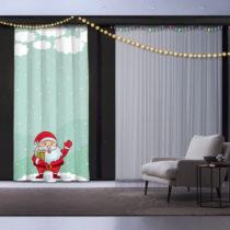 Vianočný záves Happy Christmas Santa, 140 x 260 cm