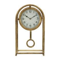 Stolové hodiny v zlatej farbe Mauro Ferretti Pendola