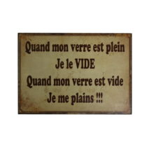 Plechová ceduľa Antic Line je Le Vide