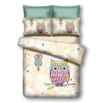 Obliečky z mikrovlákna DecoKing Owls Summerstory, 200×&#xA...