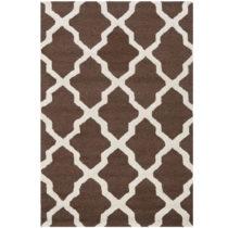 Hnedý vlnený koberec Safavieh Ava, 121×182 cm