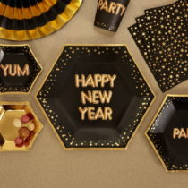 Sada 8 papierových tanierov Neviti Glitz & Glamour Happy New Year