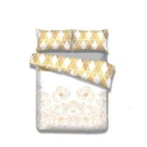 Flanelové posteľné obliečky AmeliaHome Golden Poppy, 135 x 200...