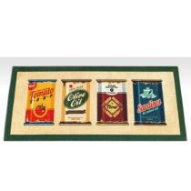 Vysokoodolný kuchynský koberec Webtappeti Olive Oil & Co., 60&#x...