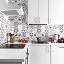 Sada 24 nástenných samolepiek Ambiance Wall Decals Traditional Beige Tiles, 20&...