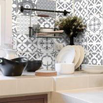 Sada 30 nástenných samolepiek Ambiance Wall Stickers Cement Tiles Azulejos Evra, 1...