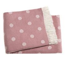 Ružová bodkovaná prikrývka s podielom bavlny Euromant Sevilla, ...