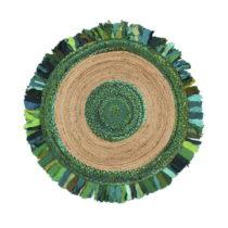 Okrúhly koberec z juty a bavlny Eco Rugs Verde, Ø 120 cm