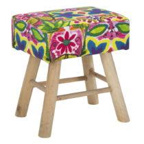 Stolička s podnožou z kaučukového dreva Mauro Ferretti Hippie...