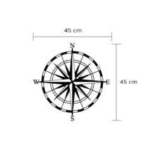 Nástenná kovová dekorácia Compass