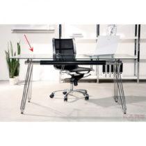 Sklenená stolová doska Kare Design Clear, ⌀ 100 cm