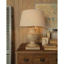 Stolná lampa z mangového dreva Orchidea Milano Luca, ⌀ 50 cm