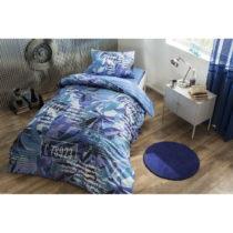 Set bavlnených obliečok na jednolôžko Bluish, 160 x 220 cm