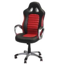 Červeno-čierna kancelárska stolička Furnhouse Speedy
