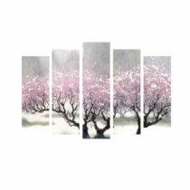 5-dielny obraz na plátne Cherry Blossom
