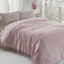 Ľahká bavlnená prikrývka cez posteľ Pique Powder, 220...