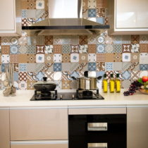Sada 30 nástenných samolepiek Ambiance Wall Stickers Cement Tiles Azulejos Estefan...