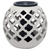 Čierno-biela guľatá keramická váza Mauro Ferretti, 23...