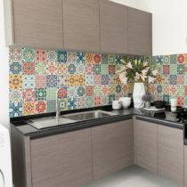 Sada 60 nástenných samolepiek Ambiance Wall Decal Cement Tiles Montanares, 15&...